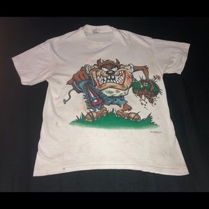 Vintage 1996 Taz Front & Back Graphic Tee
